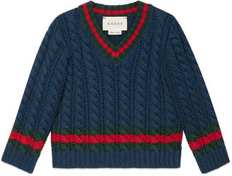 Baby cable-knit cotton sweater $240 thestylecure.com