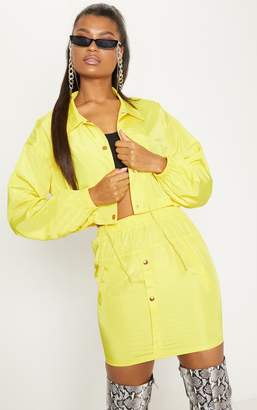 PrettyLittleThing Yellow Shell Suit Jacket