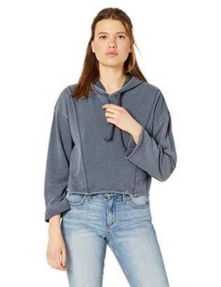 RVCA Junior's AVA Crop Hooded Fleece Pullover Sweatshirt,XL