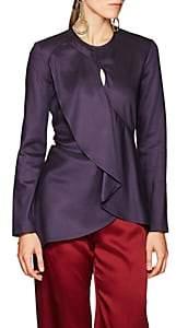 Sies Marjan Women's Jaelyn Asymmetric Blouse - Purple
