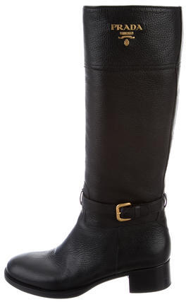pradaPrada Tall Logo Boots