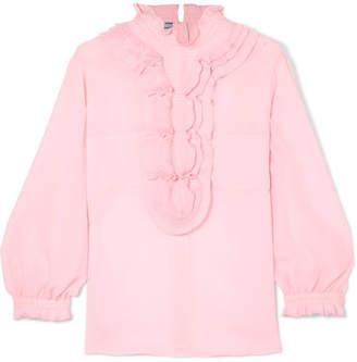 Prada Ruffled Organza Blouse - Pastel pink