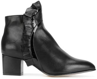 Racine Carree ruched ankle boots