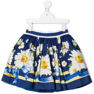 MonnaLisa floral flared skirt