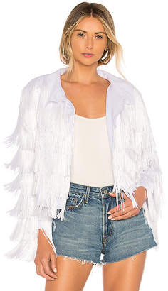 Norma Kamali All Over Fringe Jacket