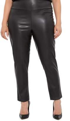 Addition Elle LOVE AND LEGEND LOVE & LEGEND High Rise Faux Leather Leggings