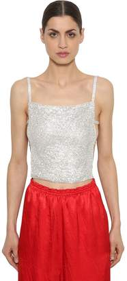 Nina Ricci Open Back Crystal Tank Top