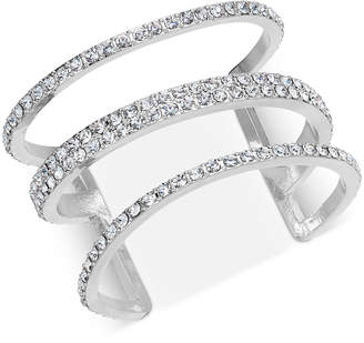 INC International Concepts I.n.c. Silver-Tone Pave Triple-Row Cuff Bracelet, Created for Macy's