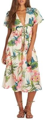 Billabong Rolling Seas Print Midi Dress