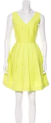 Halston Sleeveless Pleated Mini Dress