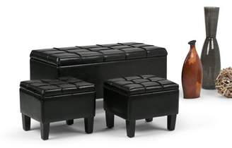 brooklyn + max Brooklyn + Max Sea Mills 3 Piece Storage Ottoman Bench
