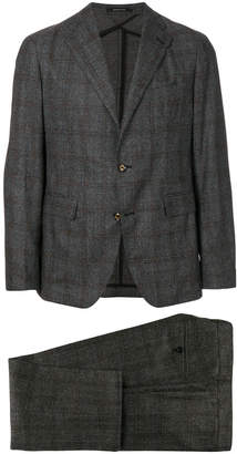 Tagliatore checked formal suit