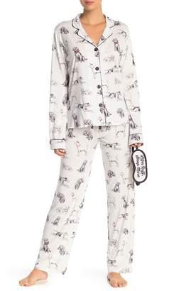 PJ Salvage Playful Prints Pajama & Eye Mask Set