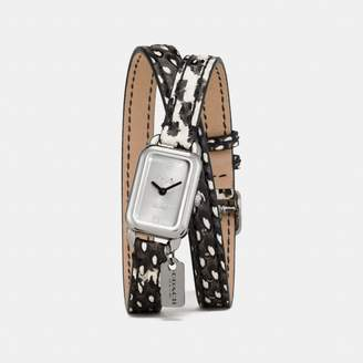 Coach Ludlow Double Wrap Watch With Charm, 17Mm X 24Mm