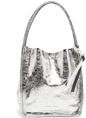 Proenza Schouler Metalic large leather tote