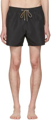 Paul Smith Black Swim Shorts $125 thestylecure.com