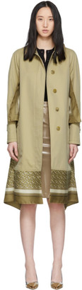 Burberry Beige Scarf Car Coat