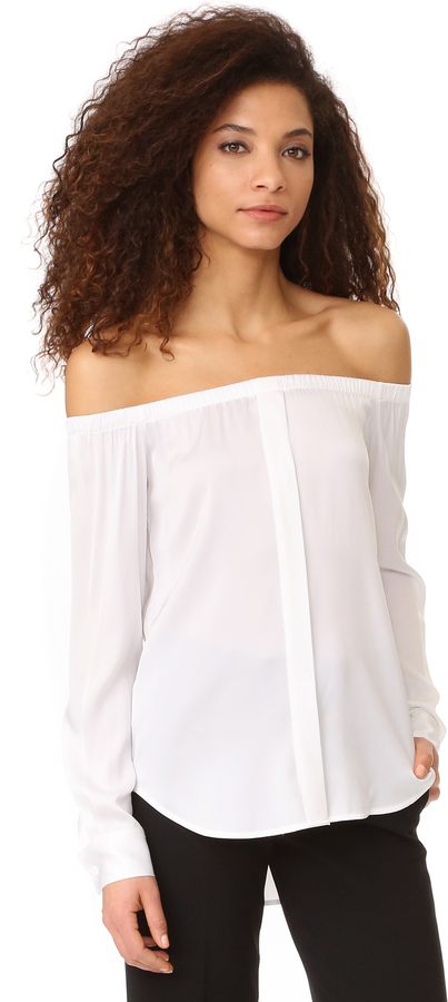 DKNY DKNY Long Sleeve Off Shoulder Top