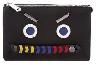 Fendi Monster Leather Clutch