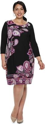 Dana Buchman Plus Size Scoopneck Shift Dress
