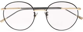 c2b7c773db7 Bottega Veneta Round-Frame Titanium Optical Glasses