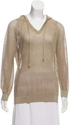 MICHAEL Michael Kors Open-Stitch Hooded Sweater