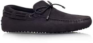 Tod's Laced Gommino Nubuck Driving Shoes