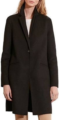 Women's Lauren Ralph Lauren Wool Blend Reefer Coat $340 thestylecure.com