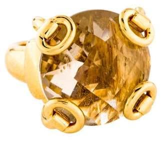 f10053374 Gucci 18K Quartz Horsebit Ring