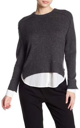 Brochu Walker Looker Wool & Cashmere Blend Hi-Lo Pullover