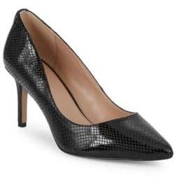 BCBGeneration Marci Snake-Effect Pumps