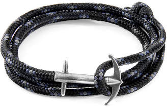 """Anchor And Crew Silver & Rope Bracelet """"Admiral"""""""