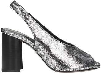 Lola Cruz Metallic Silver Leather Sandals