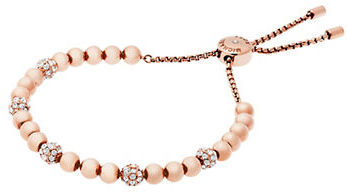 MICHAEL Michael Kors Michael Kors Brilliance Pavé Beaded Slide Bracelet/Rose Goldtone