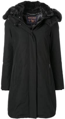 Woolrich fur hood trim padded coat