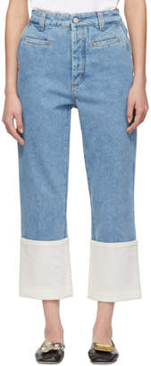Loewe Indigo Fisherman Stone Washed Jeans