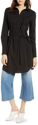 Halogen Stretch Cotton Poplin Shirtdress