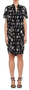 Zero Maria Cornejo Women's Sadie Book-Print Stretch-Silk Shirtdress-Black