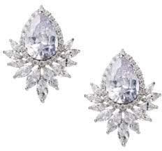 Luxe Crystal Leaf Drop Earrings