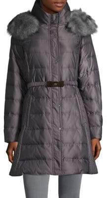 Kate Spade Faux Fur-Trim Puffer Jacket