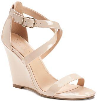 Lauren Conrad Flourish Women's Dress Wedges $59.99 thestylecure.com