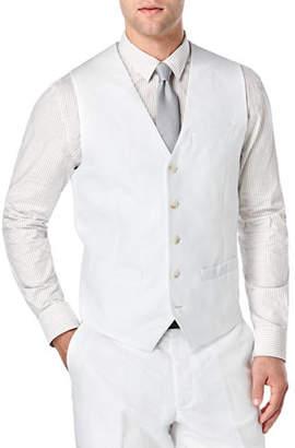 Perry Ellis Solid Linen-Cotton Vest Waistcoat