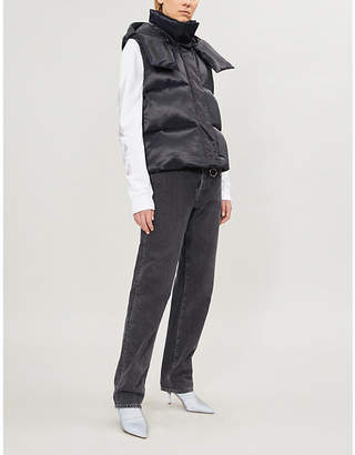 Off-White For Riding satin padded gilet