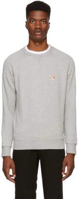 MAISON KITSUNÉ Grey Fox Head Patch Sweatshirt