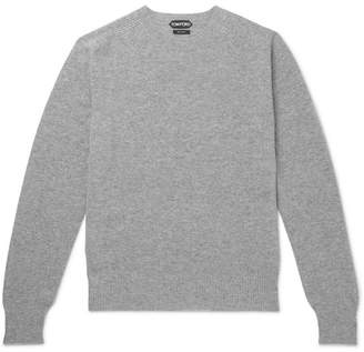 Tom Ford Waffle-Knit Mélange Cashmere Sweater