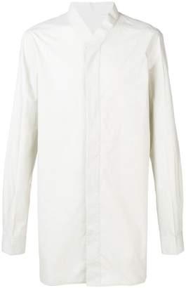 Rick Owens collarless button-up shirt