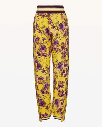 Juicy Couture JXJC Etched Floral Asymmetric Cuff Pant