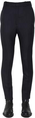Alexander McQueen 18cm Pinstriped Wool Pants