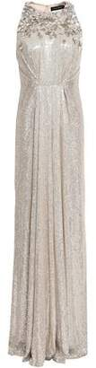 Jenny Packham Embellished Silk-Georgette Gown