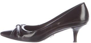 pradaPrada Leather Bow Pumps